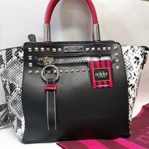 Nicole Lee Snakeskin Handbag NEW!